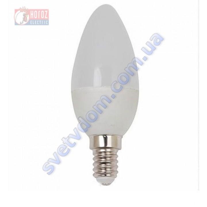 Лампа светодиодная Horoz Electric HL4360L 4W (аналог 30Вт) C37 4200K E14 001-003-0004-N-E14