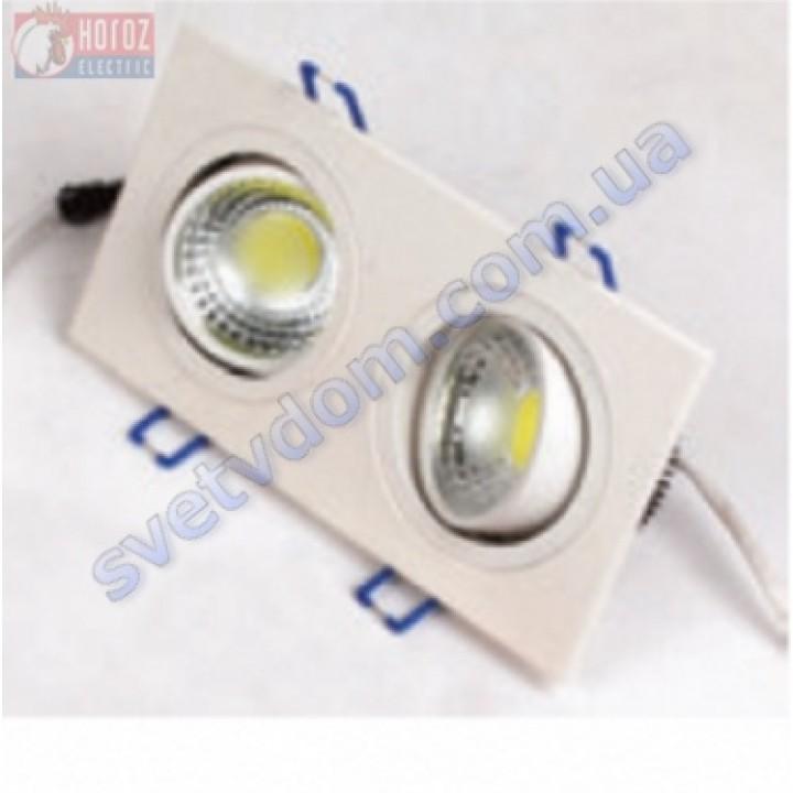 Світильник точковий світлодіодний LED Horoz Electric ADRIANA-10 HL6702L 2*5W 2700K 016-021-0010-H