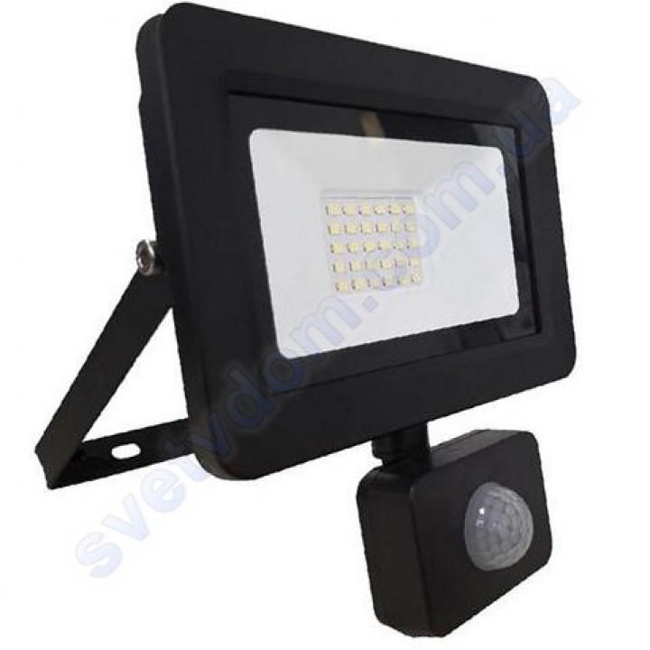 Прожектор светодиодный LED Horoz Electric ASLAN/S-30 30W 6400K с датчиком движения IP65 068-011-0030