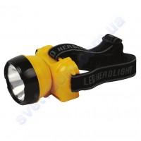 Світильник-ліхтар акумуляторний налобний світлодіодний LED Horoz Electric BECKHAM-1 жовтий або синій 084-007-0001