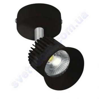 Світильник Світлодіодний спот LED настінно-стельовий Horoz Electric BEYRUT 4200K 5W поворотний чорний-білий 017-001-0005