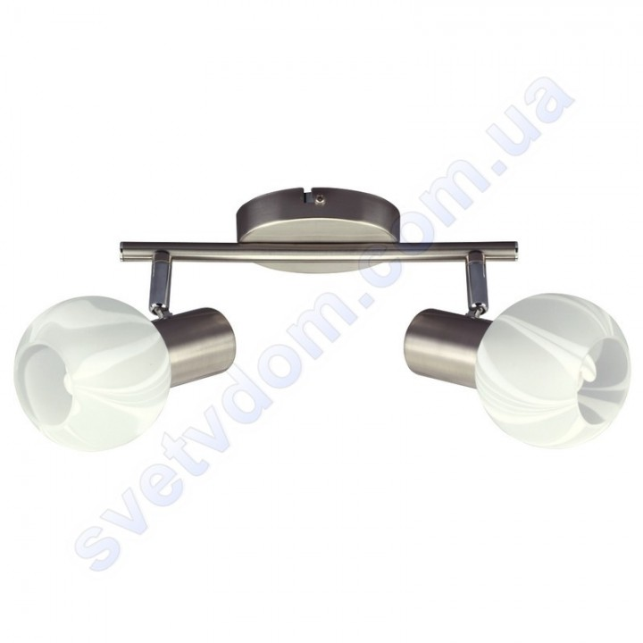 Світильник поворотний спот настінно-стельовий Horoz Electric BODRUM-2 E14x2 матовий хром 035-004-0002