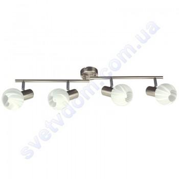Светильник поворотный спот настенно-потолочный Horoz Electric BODRUM-4 E14x4 матовый хром 035-004-0004