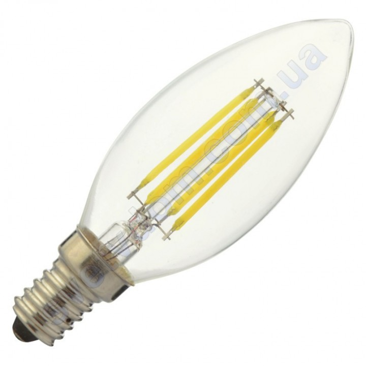 Лампа світлодіодна Horoz Electric CANDLE-6 6W (аналог 50Вт) C35 E14 FILAMENT 001-013-0006