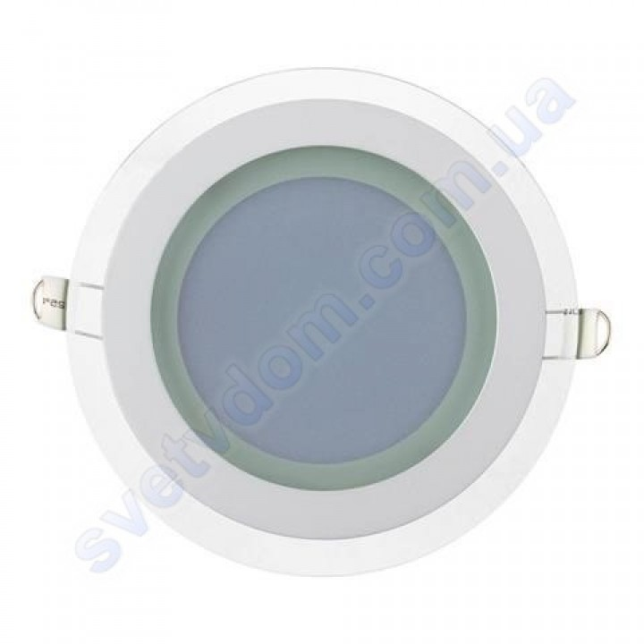 Світильник стельовий світлодіодний LED зі скляним декором Horoz Electric CLARA-12 12W 016-016-0012