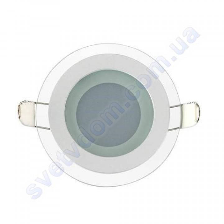 Світильник стельовий світлодіодний LED зі скляним декором Horoz Electric CLARA-6 6W 016-016-0006