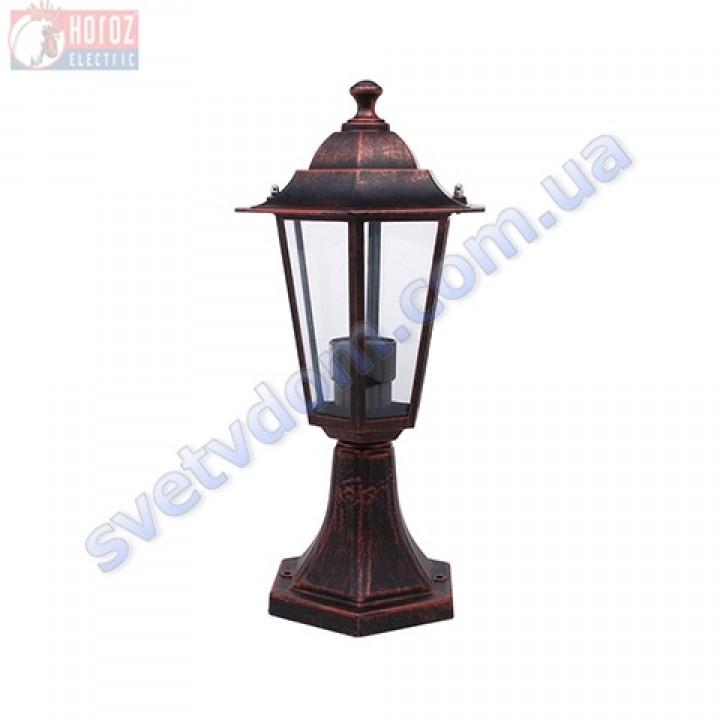 Світильник вуличний садово-парковий Horoz Electric ERGUVAN-2 HL271 E27 60W, max IP44 білий-чорний-мідь алюміній 075-012-0002