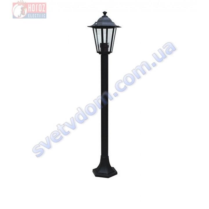 Светильник уличный садово-парковый Horoz Electric ERGUVAN-4 HL270M E27 60W max IP44 черный алюминий 075-012-0004