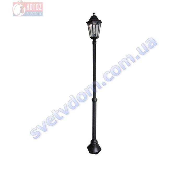 Светильник уличный садово-парковый Horoz Electric ERGUVAN-6 HL273P E27 60W max IP44 черный алюминий 075-012-0006