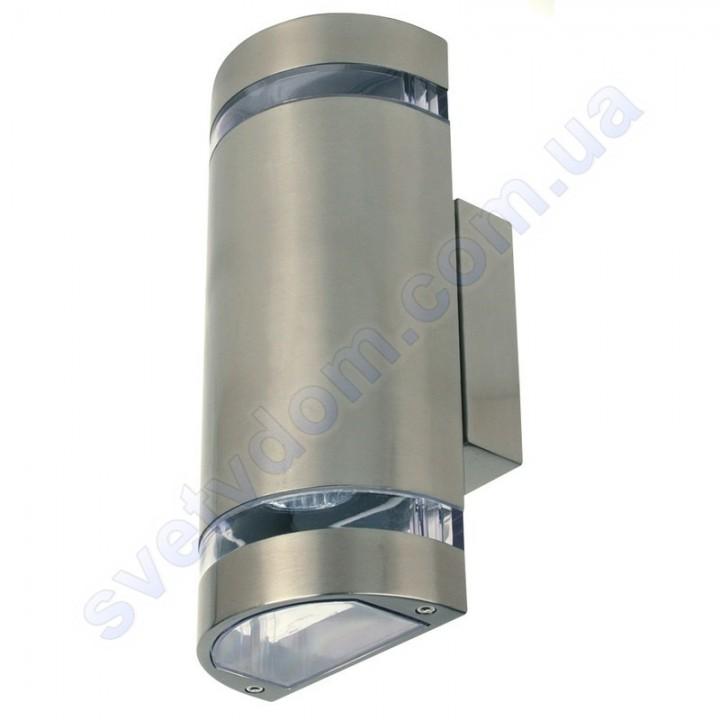 Світильник вуличний садово-парковий фасадний Horoz Electric GARDENYA-4 GU10x2 IP44 нерж 075-010-0004