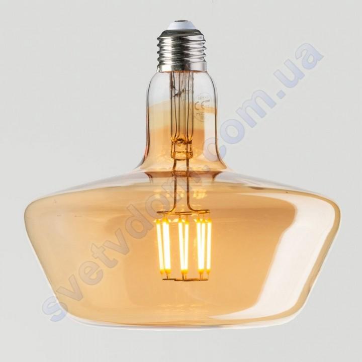 Лампа Эдисона светодиодная Horoz Electric GINZA AMBER 8W (аналог 60Вт) E27 FILAMENT 001-050-0008-A