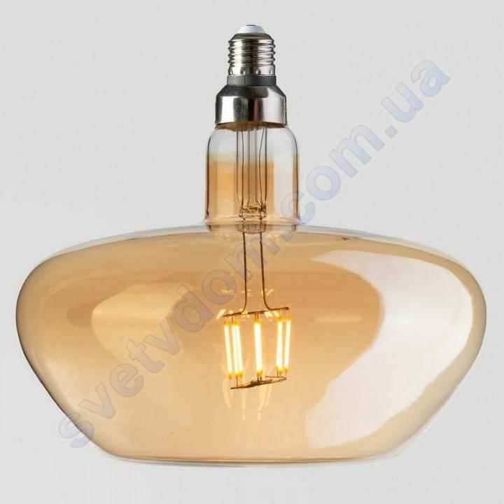 Лампа Эдисона светодиодная Horoz Electric GINZA-XL AMBER 8W (аналог 60Вт) E27 FILAMENT 001-050-0008-AXL
