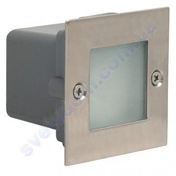 Світильник підсвічування для сходів світлодіодний LED Horoz Electric GUMUS 0.9 W мат. хром 079-018-0001
