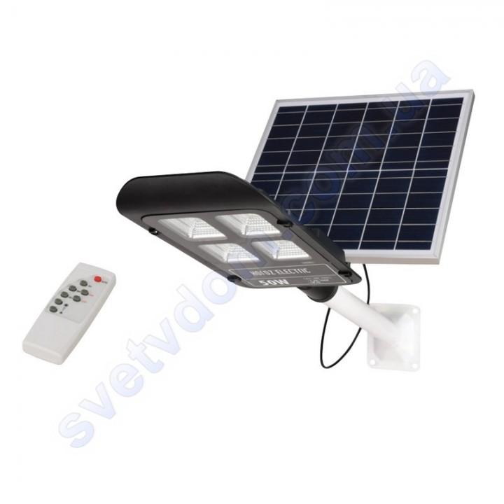 Світильник ліхтар консольний на сонячної панелі світлодіодний SMD LED Horoz Electric LAGUNA-50 50W IP65 074-006-0050