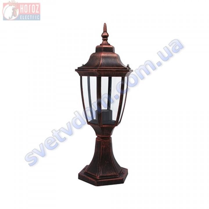 Світильник вуличний садово-парковий Horoz Electric LEYLAK-2 HL276 E27 60W, max IP44 білий-чорний-мідь алюміній 075-013-0002