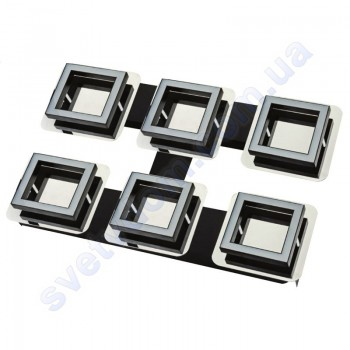 Світильник Світлодіодний LED настінно-стельовий Horoz Electric LIKYA-6 4000K 6x5W хром 036-007-0006