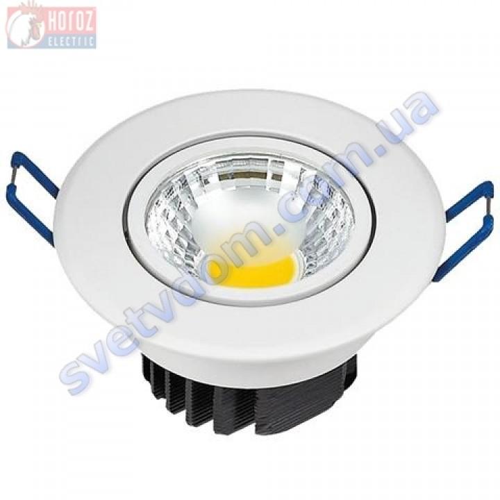 Світильник точковий світлодіодний LED Horoz Electric LILYA-3 HL698LE 3W 6400K 016-009-0003-C
