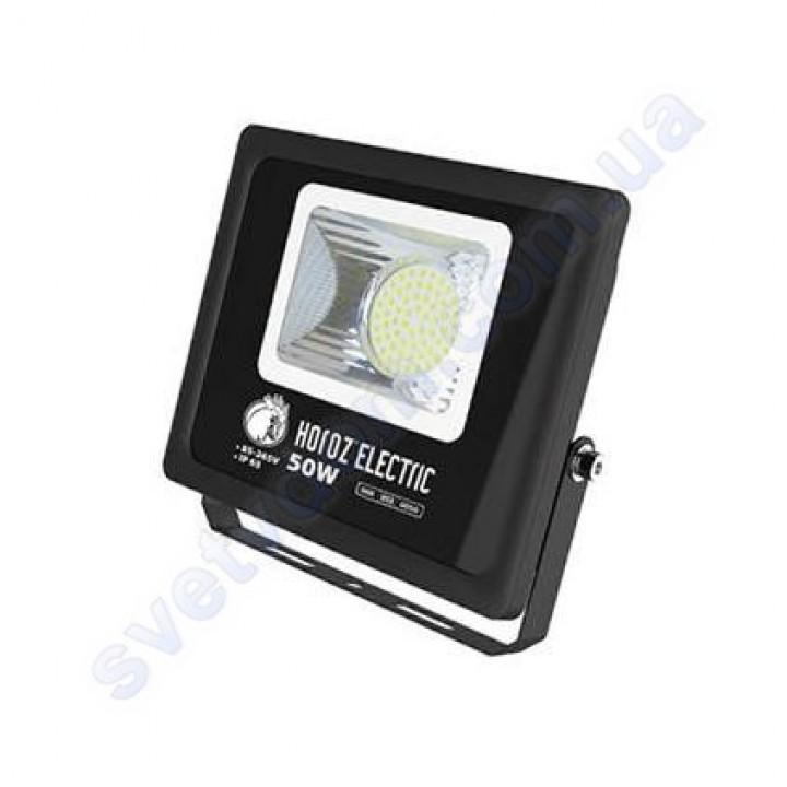 Прожектор светодиодный LED Horoz Electric LION-50 50W 6400K IP65 068-013-0050