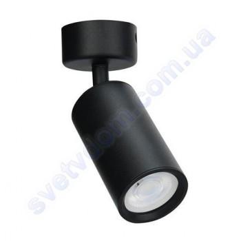 Светильник Светодиодный спот LED настенно-потолочный Horoz Electric LOZAN поворотный MR16 GU10 черный-белый 016-001-0001