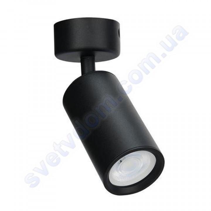 Світильник Світлодіодний спот LED настінно-стельовий Horoz Electric LOZAN поворотний MR16 GU10 чорний-білий 016-001-0001