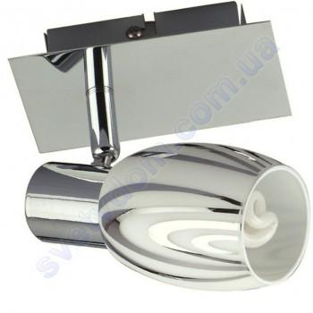 Світильник поворотний спот настінно-стельовий Horoz Electric MANAVGAT-1 E14 хром 035-003-0001