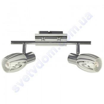 Світильник поворотний спот настінно-стельовий Horoz Electric MANAVGAT-2 E14x2 хром 035-003-0002
