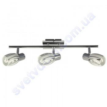 Светильник поворотный спот настенно-потолочный Horoz Electric MANAVGAT-3 E14x3 хром 035-003-0003