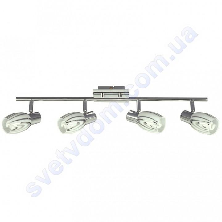 Светильник поворотный спот настенно-потолочный Horoz Electric MANAVGAT-4 E14x4 хром 035-003-0004