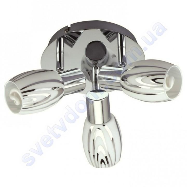 Світильник поворотний спот настінно-стельовий Horoz Electric MANAVGAT-5 E14x3 хром 035-003-0005