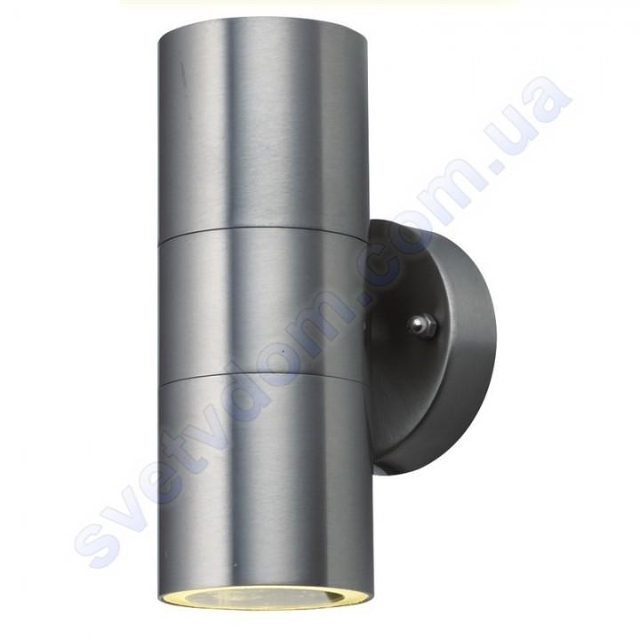 Світильник вуличний садово-парковий фасадний Horoz Electric MANOLYA-2 GU10x2 IP44 нерж 075-008-0002