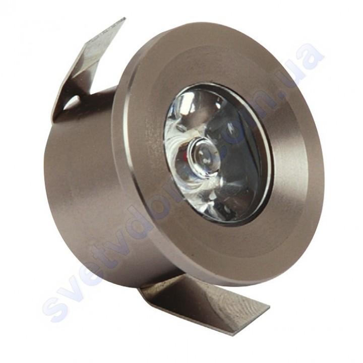 Світильник точковий світлодіодний меблевий LED Horoz Electric MONICA 1W 016-003-0001