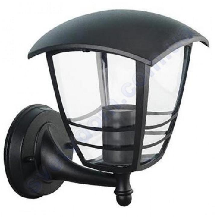 Світильник вуличний садово-парковий фасадний Horoz Electric NAR-1 IP44 E27 чорний алюміній 075-016-0001