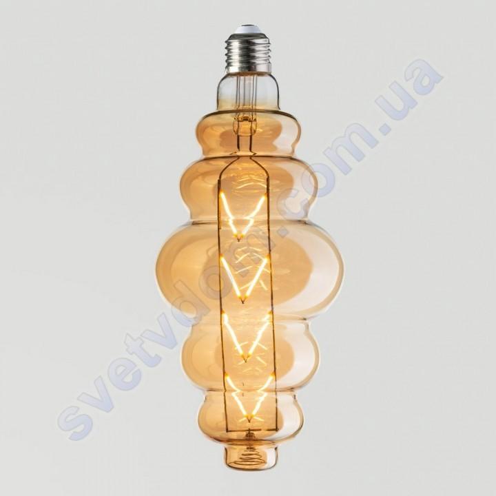 Лампа Эдисона светодиодная Horoz Electric ORIGAMI AMBER 8W (аналог 60Вт) E27 FILAMENT 001-053-0008-A