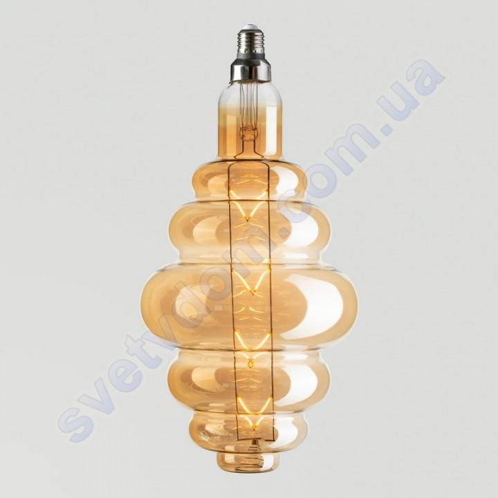 Лампа Едісона світлодіодна Horoz Electric ORIGAMI-XL AMBER 8W (аналог 60Вт) E27 FILAMENT 001-053-0008-AXL