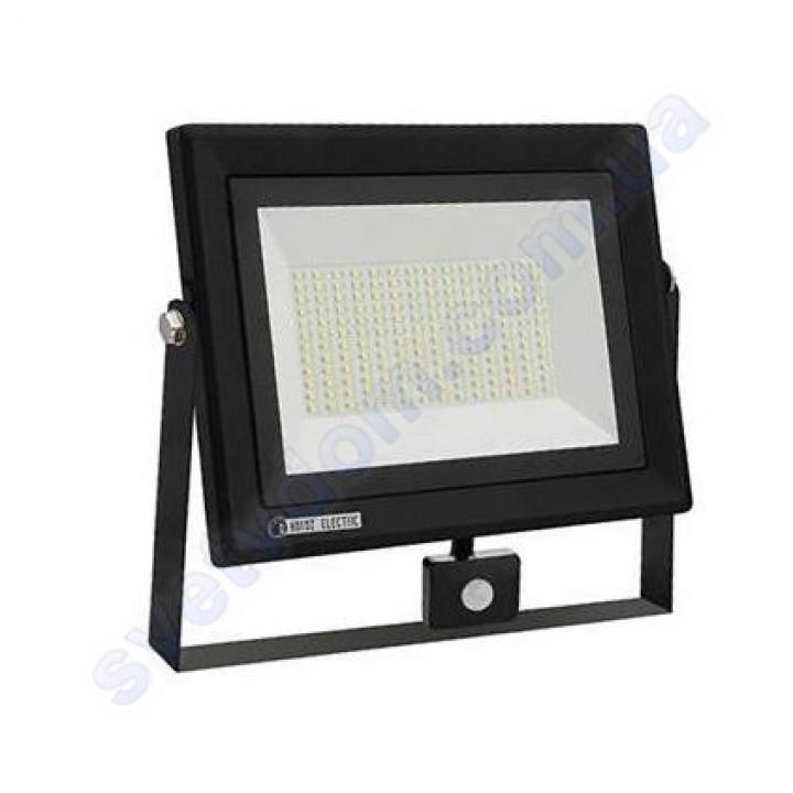Прожектор светодиодный LED Horoz Electric PARS/S-100 100W 6400K с датчиком движения IP65 068-009-0100