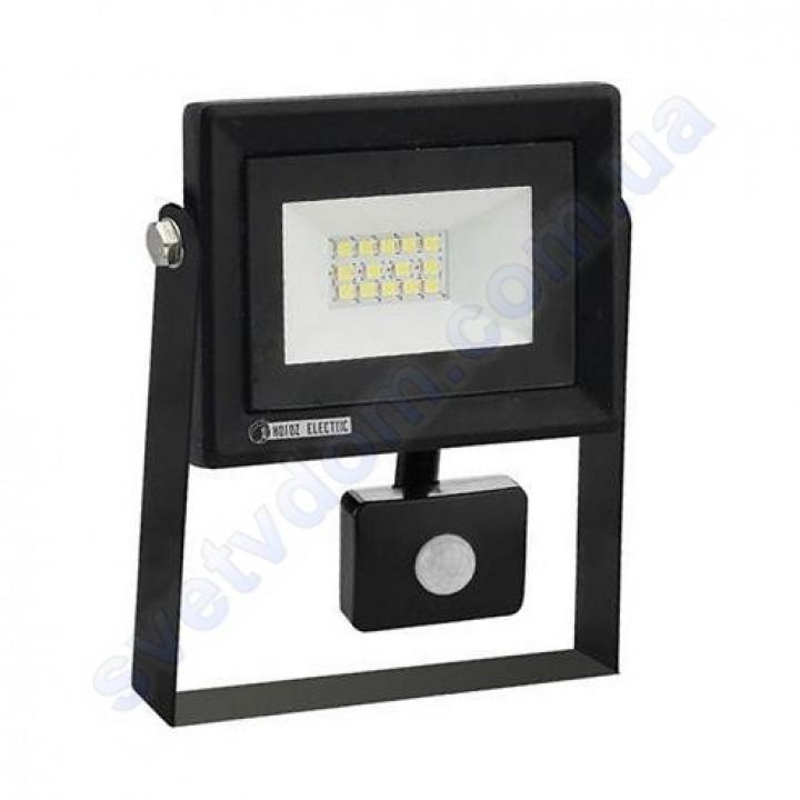 Прожектор світлодіодний LED Horoz Electric PARS/S-10 10W 6400K з датчиком руху IP65 068-009-0010