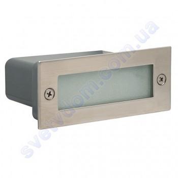 Светильник подсветка для лестницы светодиодный LED Horoz Electric PERLE 1.2W мат. хром 079-021-0002