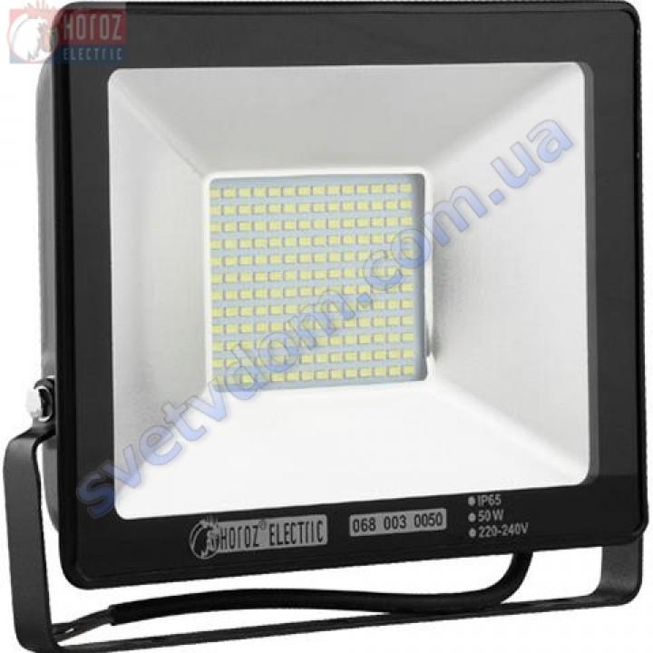 Прожектор светодиодный LED Horoz Electric PUMA-50 50W 6400K  IP65 068-003-0050