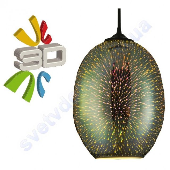 Светильник подвесной 3D эффект Horoz Electric QUANTUM-2 стекло E27 021-006-0002
