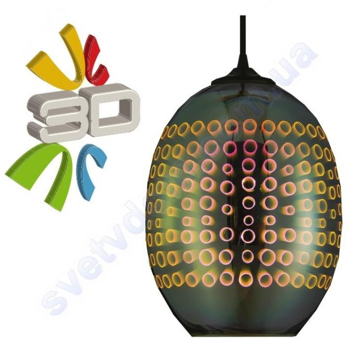 Светильник подвесной 3D эффект Horoz Electric RADIAN-2 стекло E27 021-007-0002