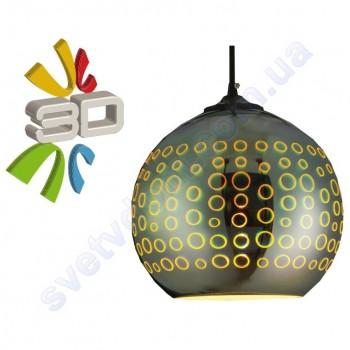 Світильник підвісний 3D ефект Horoz Electric RADIAN-1 скло E27 021-007-0001