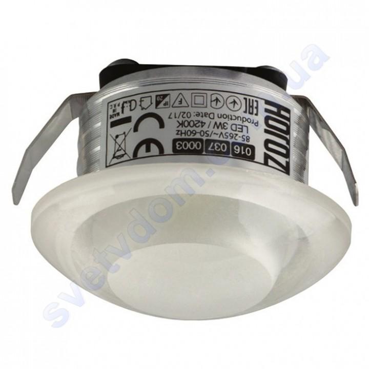 Світильник точковий світлодіодний меблевий LED Horoz Electric RITA 3W 4200K білий 016-037-0003