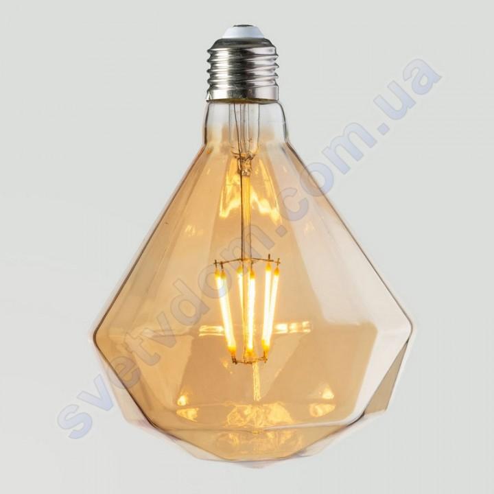 Лампа Едісона світлодіодна Horoz Electric RUSTIC DIAMOND-6 6W (аналог 50Вт) ДІАМАНТ E27 FILAMENT 001-034-0006