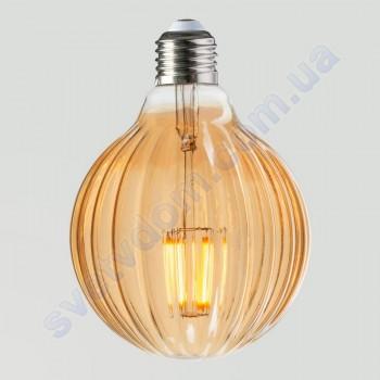 Лампа Едісона світлодіодна Horoz Electric RUSTIC MERIDIAN-6 6W (аналог 50Вт) МЕРИДІАН E27 FILAMENT 001-037-0006