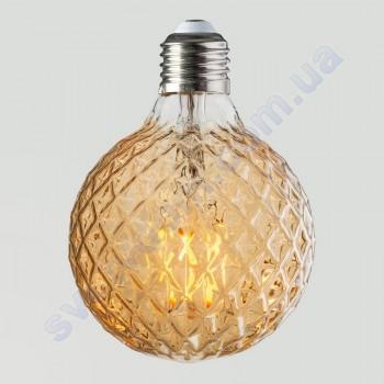 Лампа Эдисона светодиодная Horoz Electric RUSTIC TWIST-4 4W (аналог 30Вт) ТВИСТ E27 FILAMENT 001-038-0004