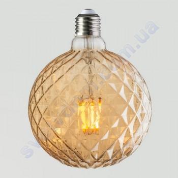 Лампа Едісона світлодіодна Horoz Electric RUSTIC TWIST-6 6W (аналог 50Вт) ТВІСТ E27 FILAMENT 001-038-0006