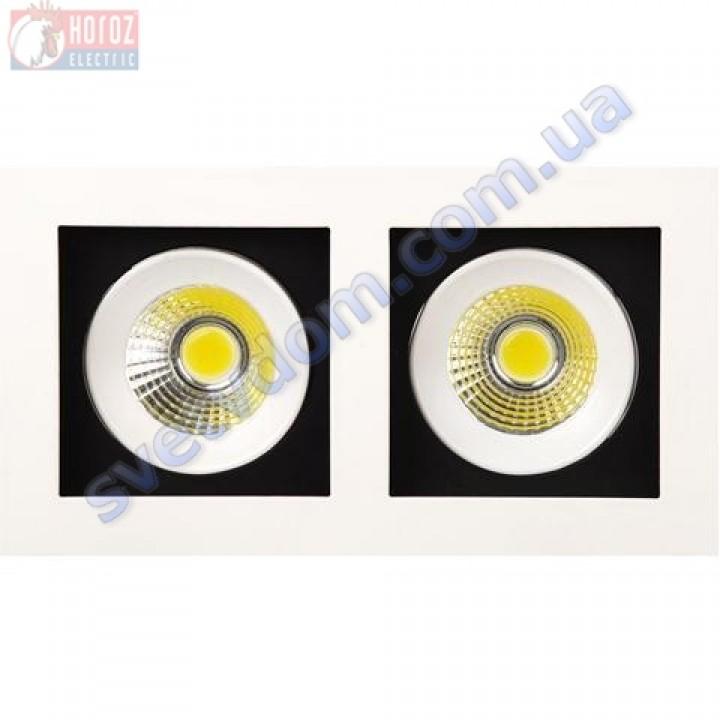 Светильник точечный светодиодный LED Horoz Electric SABRINA-16 HL6722L 2*8W 2700K 016-023-0016-H