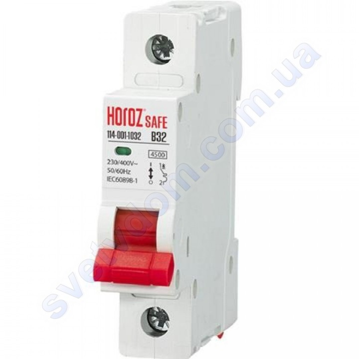 Автоматичний Вимикач Horoz Electric SAFE В32 1Р 4,5 кА 114-001-1032