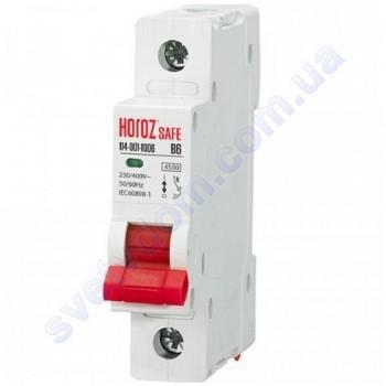 Автоматичний Вимикач Horoz Electric SAFE В6 1Р 4,5 кА 114-001-1006