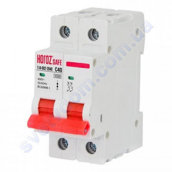 Автоматический Выключатель Horoz Electric SAFE C40 2Р 4,5кА 114-002-2040